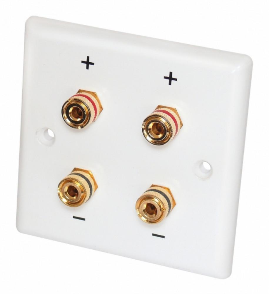 Dynavox Speaker-Wallplate Stereo White