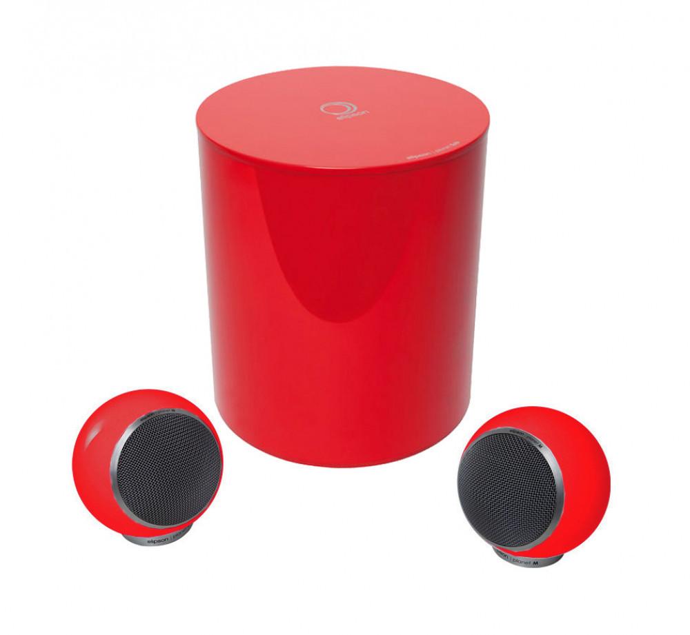 Elipson Planet M-Sub 2.1 Röd pianolack